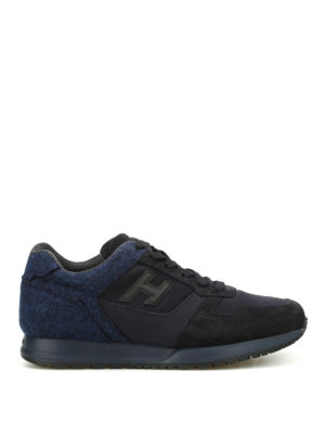 Hogan: trainers - H321 felt and suede sneakers