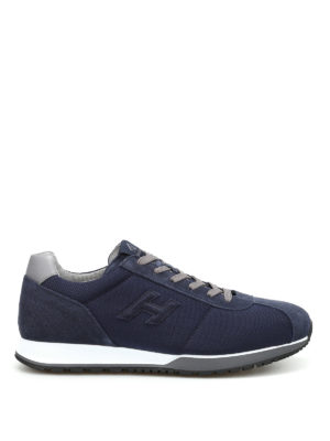 Hogan: trainers - H321 leather and fabric sneakers