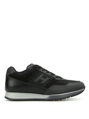 Hogan: trainers - H321 leather and mesh sneakers