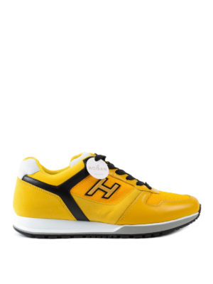 Hogan: trainers - H321 nubuck and leather sneakers