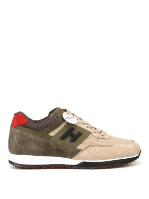 HOGAN: sneakers - Sneaker H321 beige e oliva