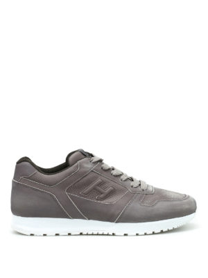 Hogan: trainers - H321 perforated leather sneakers