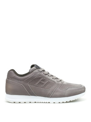 Hogan: trainers - H321 perforated nubuck sneakers