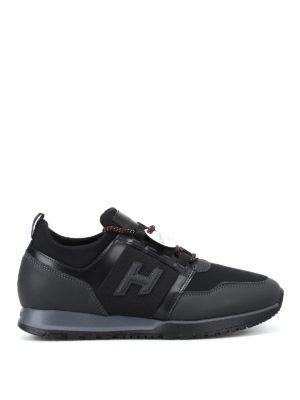 HOGAN: sneakers - Sneaker H321 in pelle e tessuto tecnico