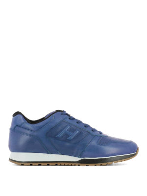 Hogan: trainers - H321 sporty chic leather sneakers