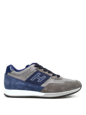 Hogan: trainers - H321 suede and leather sneakers