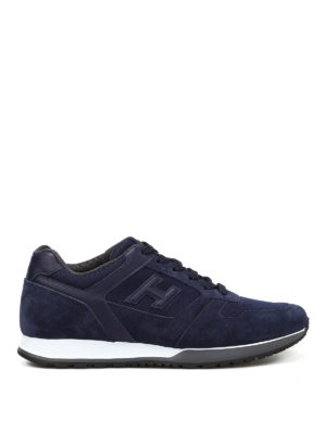 Hogan: trainers - H321 suede and mesh sneakers