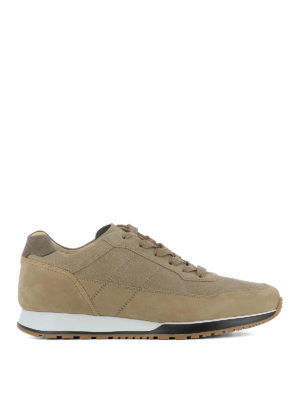 Hogan: trainers - H321 visible stitching brown shoes
