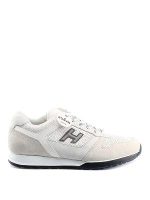 c714607556bd3 HOGAN  sneakers - Sneaker H321 bianche in pelle e nabuk
