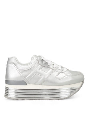 Hogan: trainers - H325 Argento leather sneakers