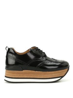 Hogan: trainers - H330 brogued wedge sneakers