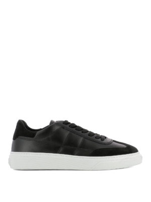 Hogan: trainers - H340 black leather sneakers