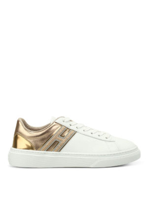 Hogan: trainers - H340 gold-tone inserts sneakers