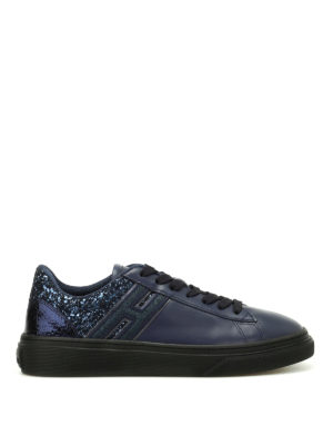 Hogan: trainers - H340 low top glitter sneakers