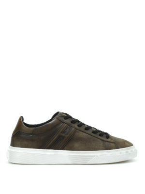 Hogan: trainers - H340 vintage leather sneakers