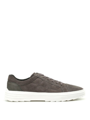 Hogan: trainers - H341 Helix low-top suede sneakers
