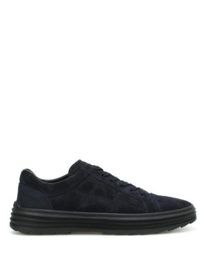 Hogan: trainers - H341 Helix suede low top sneakers