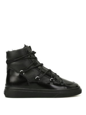 Hogan: trainers - H342 faux fur lined sneakers
