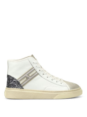 Hogan: trainers - H342 hi-top leather smart sneakers