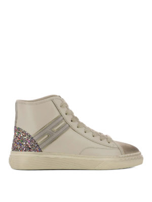 Hogan: trainers - H342 high-top leather sneakers