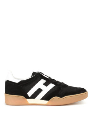 Hogan: trainers - H357 black and white sneakers