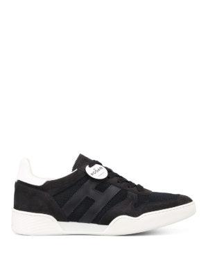 Hogan: trainers - H357 dark blue low top sneakers