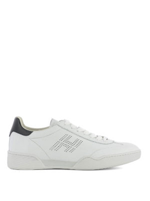 Hogan: trainers - H357 drilled logo leather sneakers