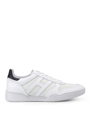 Hogan: trainers - H357 leather and fabric sneakers
