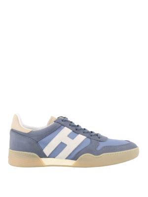 HOGAN  sneakers - Sneaker H357 azzurra in nabuk 54cee0ca215