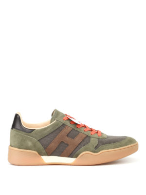 Hogan: trainers - H357 suede and fabric sneakers