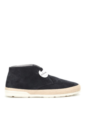 Hogan: trainers - H358 blue suede desert boots
