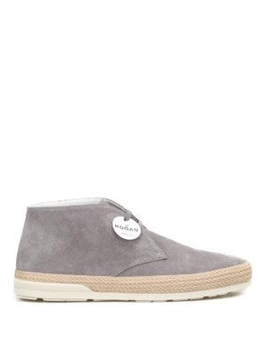 Hogan: trainers - H358 Derby grey desert boots