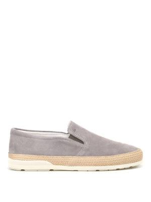HOGAN: sneakers - Slip on H358 in suede grigia