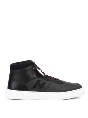HOGAN: sneakers - Sneaker alte H365 in pelle modello basket