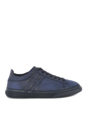 HOGAN: sneakers - Sneaker H365 in crosta blu