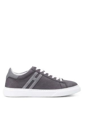 Hogan: trainers - H365 elongated H nubuck sneakers