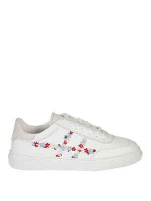 Hogan: trainers - H365 embroidered leather sneakers
