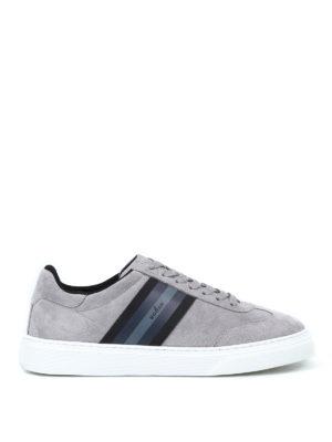 HOGAN: sneakers - Sneaker H365 in camoscio grigio