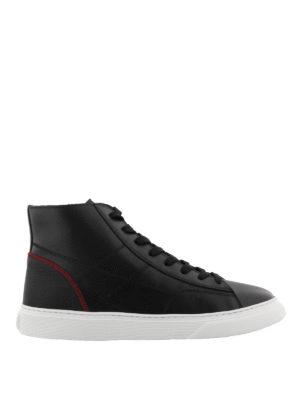 HOGAN: sneakers - Sneaker H365 alte nere in pelle