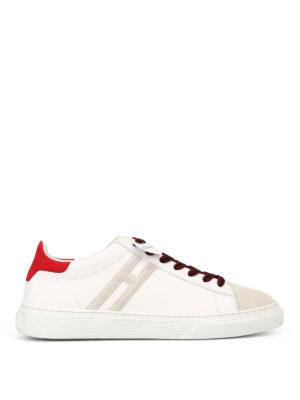 HOGAN: sneakers - Sneaker in nabuck e pelle H365