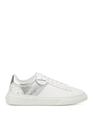 Hogan: trainers - H365 low top white leather sneakers