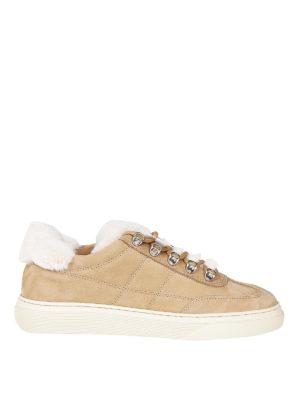 HOGAN: sneakers - Sneaker H365 in pelle con interno in montone