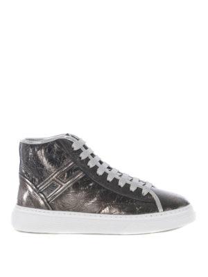 HOGAN: sneakers - Sneaker alte H366 in pelle craquelé