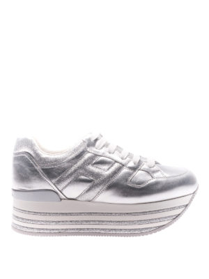 Hogan: trainers - H368 lace-up platform sneakers