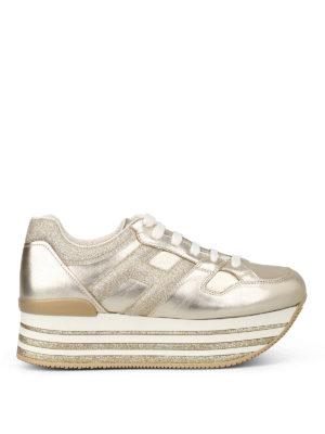HOGAN: sneakers - Sneaker H368 con maxi suola