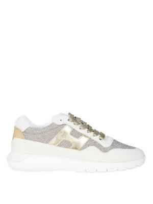 HOGAN: sneakers - Sneaker H371 Interactive³ sui toni dell'oro