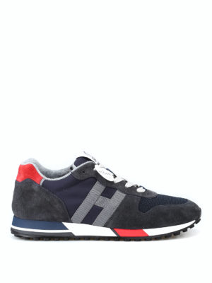 HOGAN: sneakers - Sneaker blu scuro H383 new running