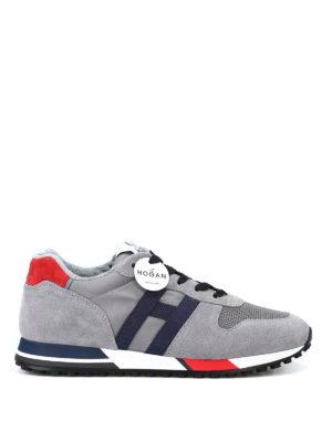 HOGAN: sneakers - Sneaker grigie H383 new running