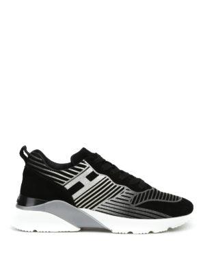HOGAN: sneakers - Sneaker nere H385 Active con glitter