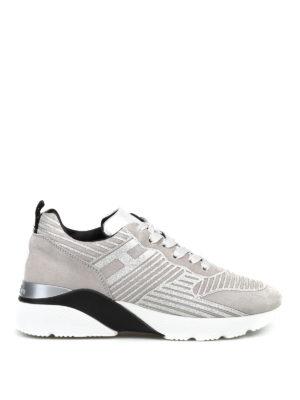 HOGAN: sneakers - Sneaker in suede H385 Active con glitter